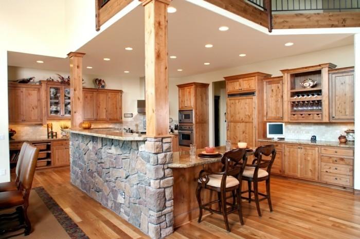 Wir empfehlen solches Design von kleiner, offener Küche!