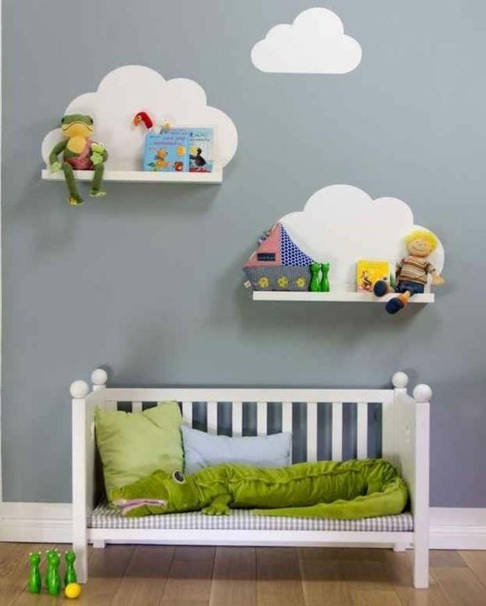 Kinderzimmer Wanddeko Wolken Mit Spielzeugen