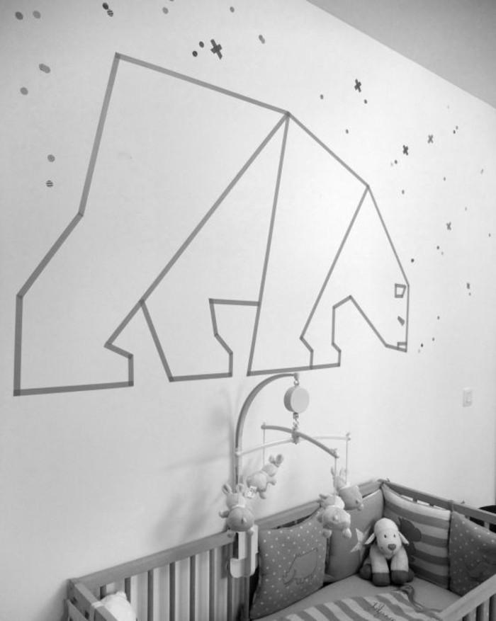 Kinderzimmer-gestalten-mit-Zeichnung-eines-Polarbären