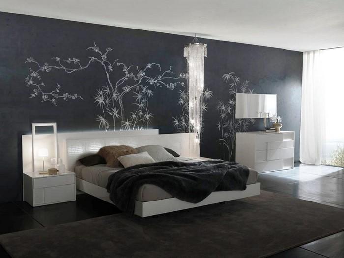 Schlafzimmer-Farben-Eine-auffällige-Dekoration