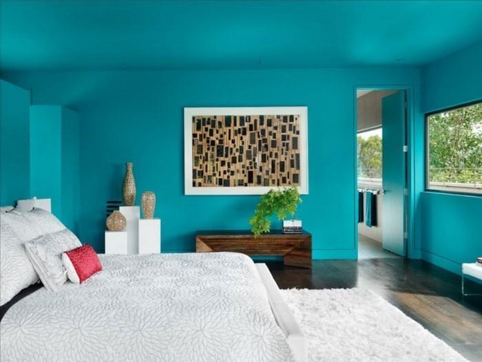 Wohnideen schlafzimmer farbgestaltung blau  104 Schlafzimmer Farben Ideen und Farbinterpretationen