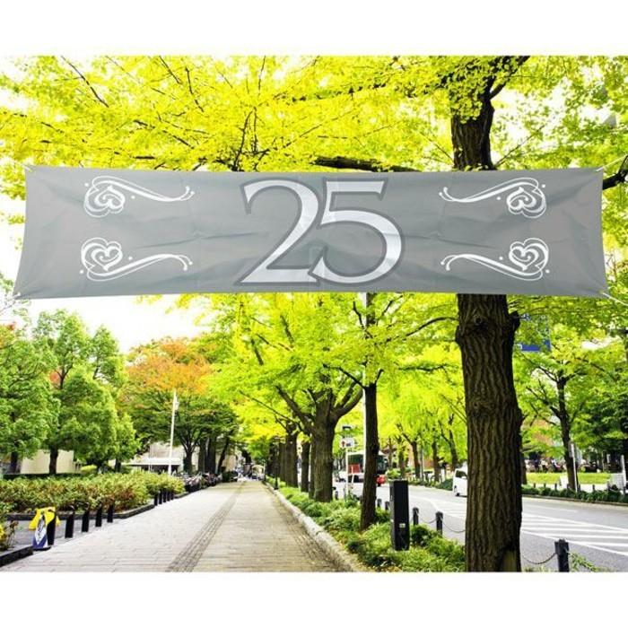Silberhochzeit-Tischdeko-von-partydeko-banner