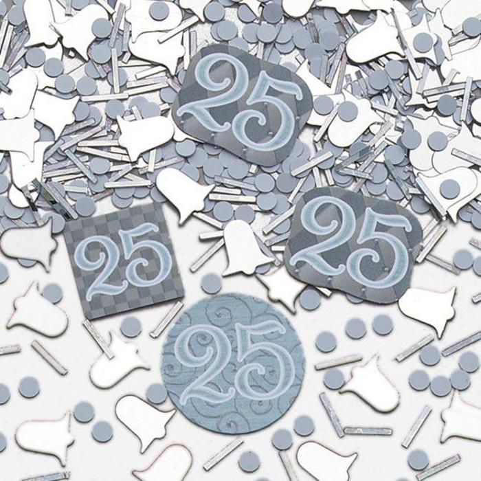 Silberhochzeit-Tischdeko-von-partydeko-konfetti-mit-Nummer-25