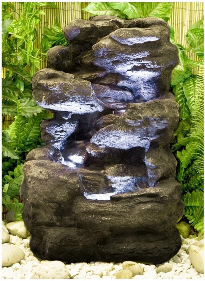 Springbrunnen garten granit