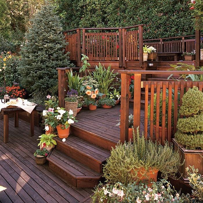 terrasse bauen: gardenterrasse im hinterhof ? 70 ideen - Terrasse Anlegen Ideen
