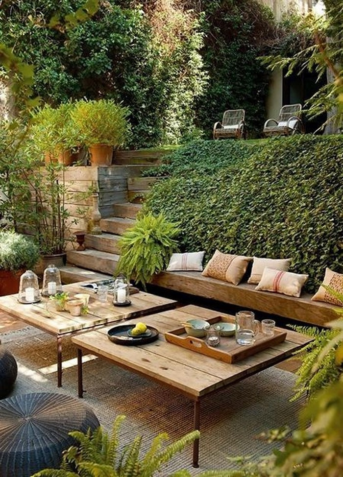 Terrasse bauen: Gardenterrasse im Hinterhof – 70 Ideen