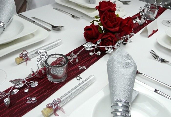Tischdeko zur silberhochzeit f r eine unvergessliche feier - Dekoration zur silberhochzeit ...