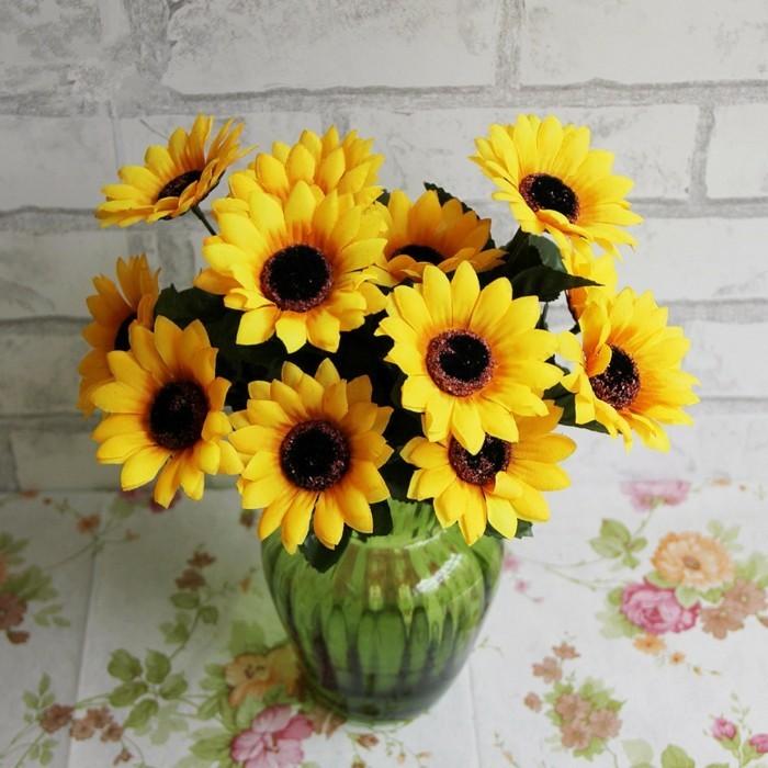Tischdeko mit Sonnenblumen – über 50 sonnige Vorschläge ...