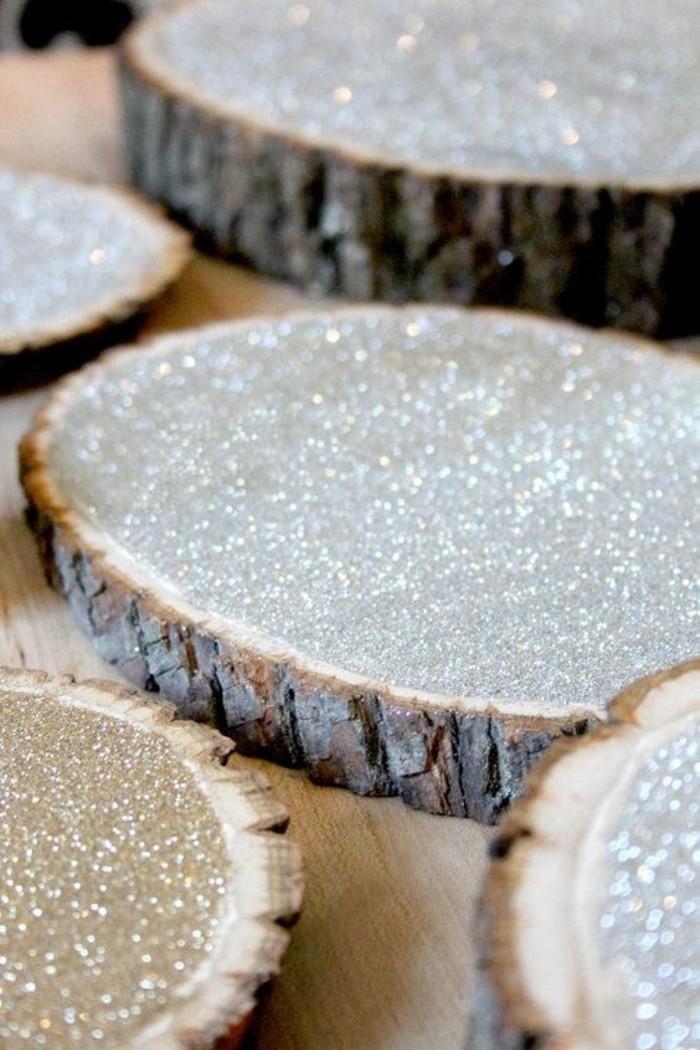 Tischdeko-für-Silberhochzeit-aus-Holz