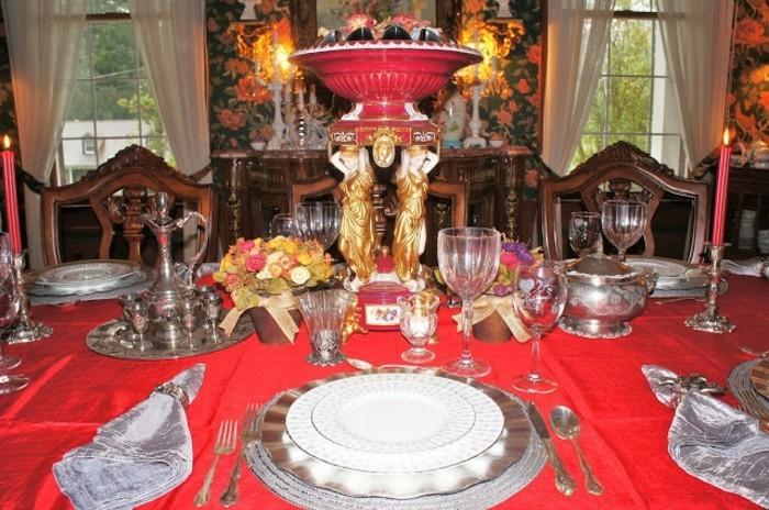 Tischdeko-für-Silberhochzeit-ganz-stilvoll