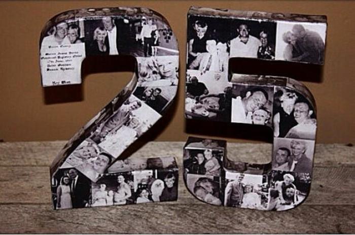 Tischdeko-für-Silberhochzeit-mit-den-Fotos