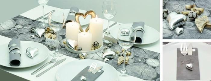 tischdeko zur silberhochzeit f r eine unvergessliche feier. Black Bedroom Furniture Sets. Home Design Ideas