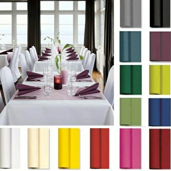 Tischschmuck-Silberhochzeit-von-tafeldeko-in-verschiedener-Farben