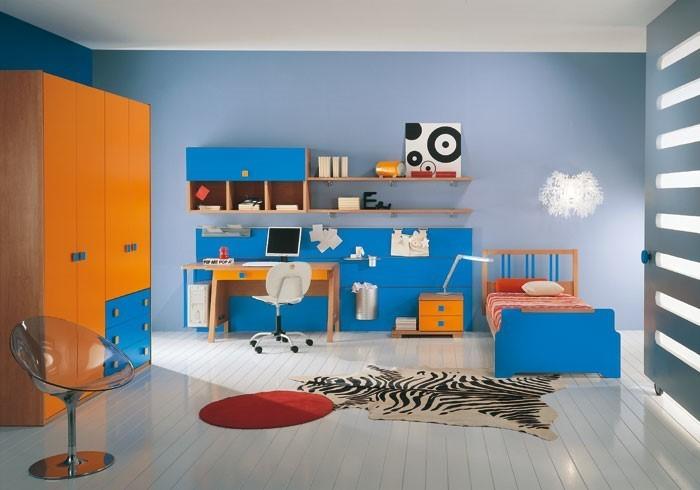 Wand-Streichen-Ideen-fürs-Kinderzimmer-Ein-auffälliges-Interieur