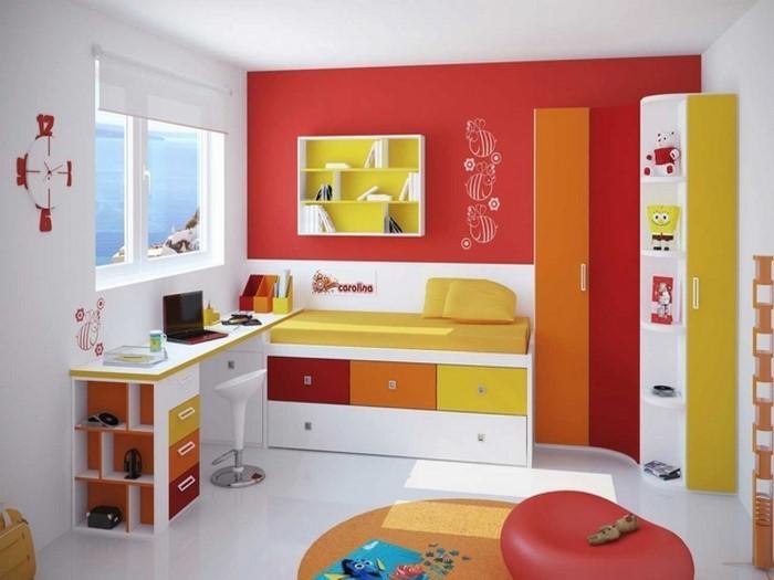 Wand-Streichen-Ideen-fürs-Kinderzimmer-Eine-außergewöhnliche-Dekoration