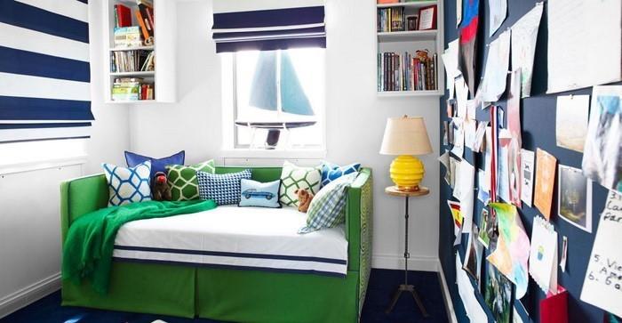Kinderzimmer Einrichten Junge Platzsparende Mbel Wei Orange Blau Wand In  Hmmelblau Streichen Und .