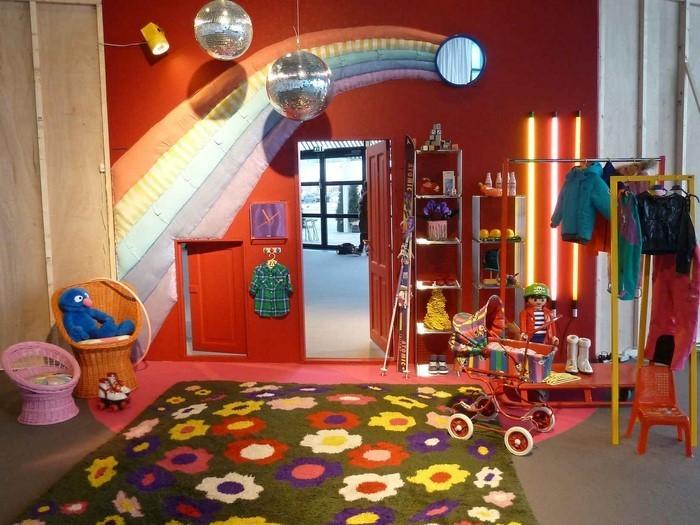 Wand-Streichen-Ideen-fürs-Kinderzimmer-Eine-auffällige-Dekoration