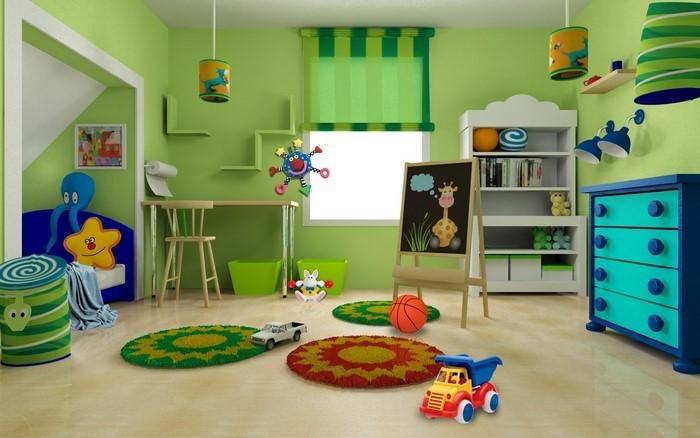 Wand-Streichen-Ideen-fürs-Kinderzimmer-Eine-moderne-Ausstrahlung