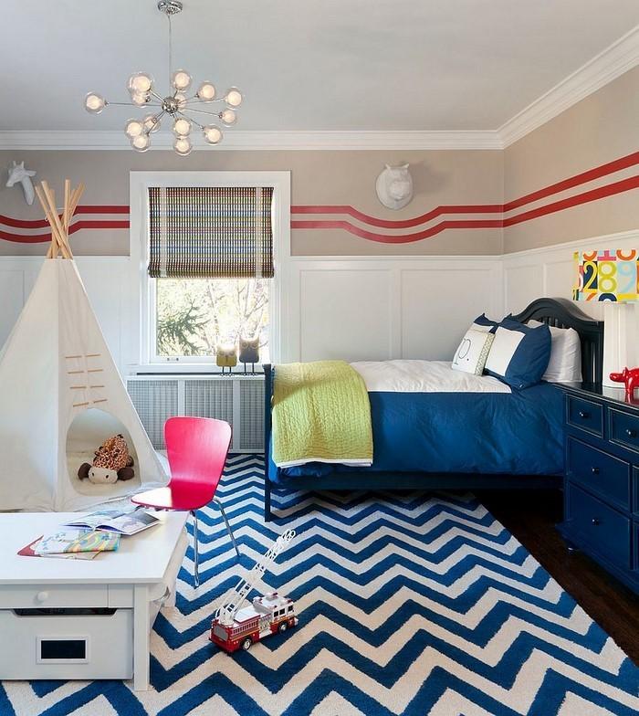 Wand-Streichen-Ideen-fürs-Kinderzimmer-Eine-moderne-Dekoration