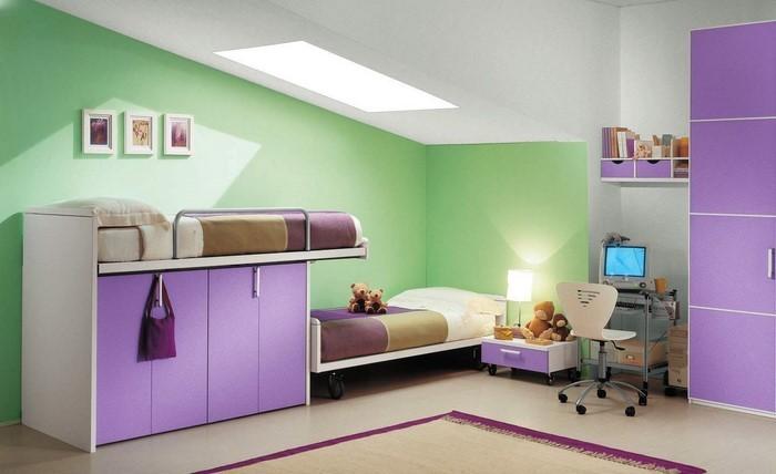 Wand-Streichen-Ideen-fürs-Kinderzimmer-Eine-moderne-Gestaltung