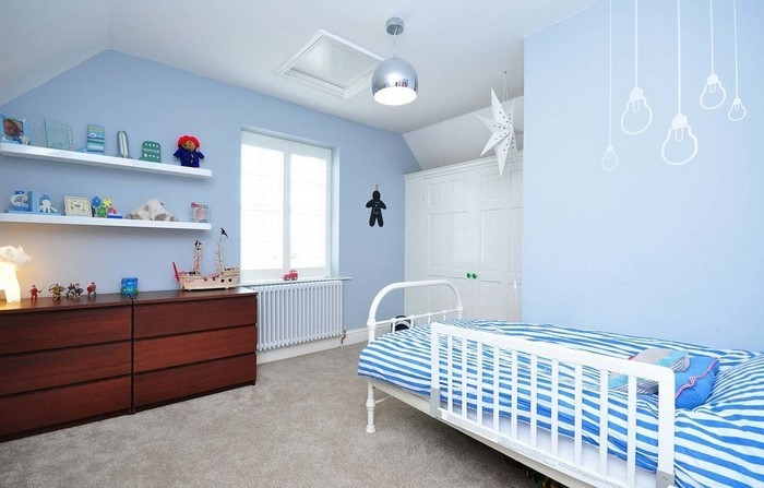 Kinderzimmer Blau Weiß Streichen ~ Die Besten Einrichtungsideen und ...
