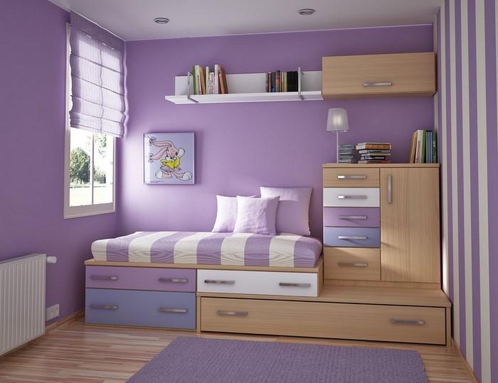 Streifen Wand Streichen-Deko Idee Weiß-Blau Junge | Kinderzimmer ...