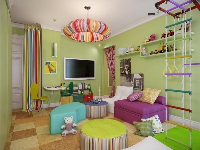 Kinderzimmer ideen gestaltung wände streichen  77 Wand Streichen Ideen fürs Kinderzimmer