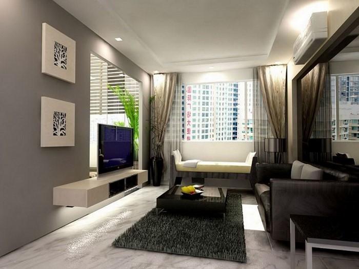 Wandfarben-Ideen-fürs-Wohnzimmer-Eine-auffällige-Dekoration