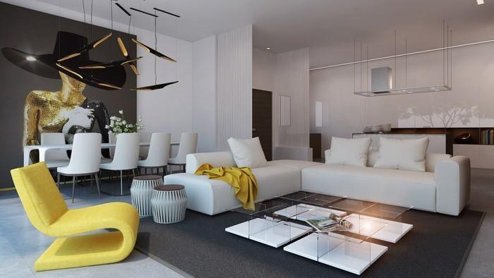 Wohnzimmer moderne farben  85 moderne Wandfarben Ideen fürs Wohnzimmer 2016