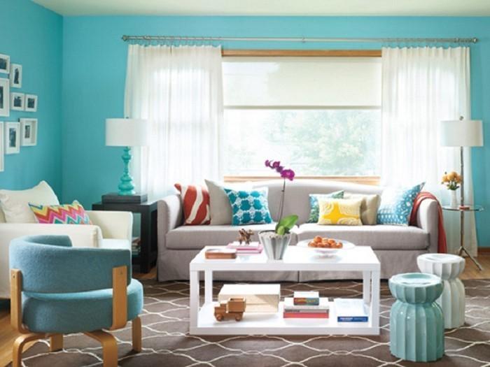 85 moderne wandfarben ideen fürs wohnzimmer 2016 - Wandfarbe Ideen