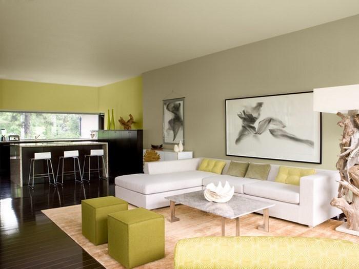 Zeitgenossisch Wandfarben Wohnzimmer ~ Moderne wandfarben ideen fürs wohnzimmer