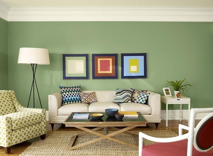 wandfarbe wohnzimmer ideen | möbelideen - Bilder Wandfarben Ideen