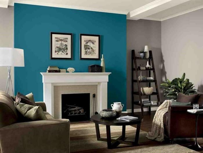 85 Moderne Wandfarben Ideen Fürs Wohnzimmer 2016 ...