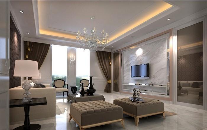 wohnideen wohnzimmer braun weiß:Wohnideen-Wohnzimmer-Eine-auffällige ...