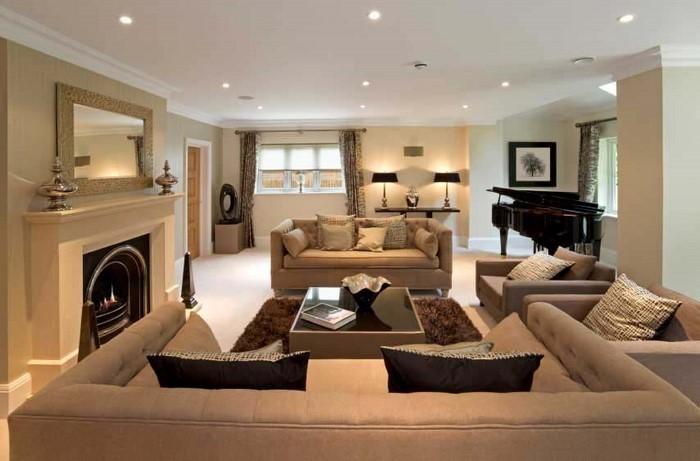 wohnideen wohnzimmer grun wohnraum dekorationen beispiele die sich lohnen