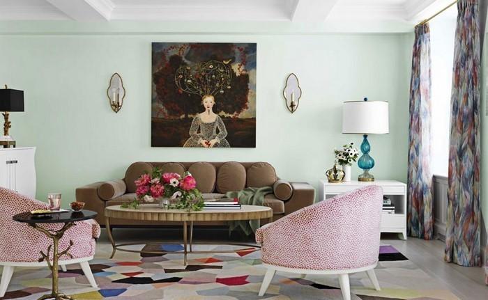 Wohnideen-Wohnzimmer-Wandfarben-Eine-auffällige-Atmosphäre