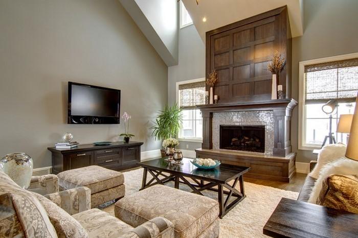 Wohnzimmer Farben: Eine coole Atmosphäre