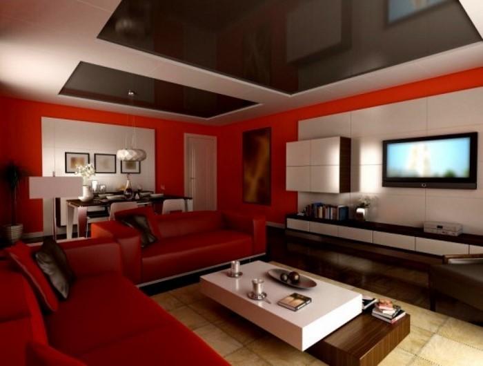 Wohnzimmer-Farben-Eine-auffällige-Deko