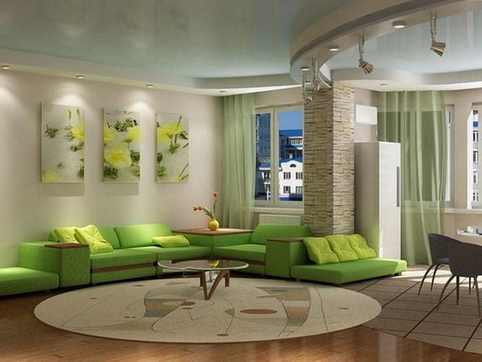 coole wohnzimmer farben: Wohnzimmer Farben Wohnzimmer Ideen mit grünen Farben Eine coole Deko