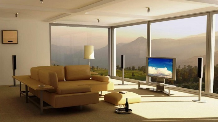 coole wohnzimmer farben:Wohnzimmer Farben: Wohnzimmer Ideen mit grünen Farben:Eine coole Deko