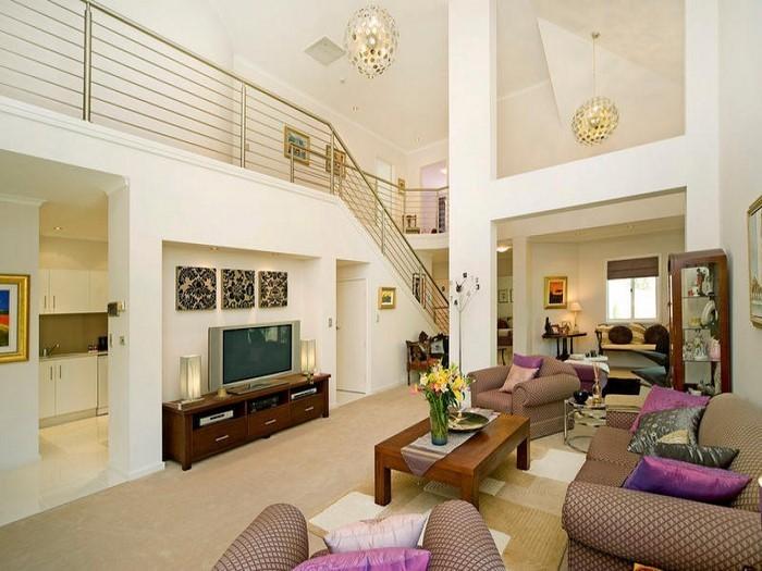 Wohnzimmer-Farben-auffälliges-Design