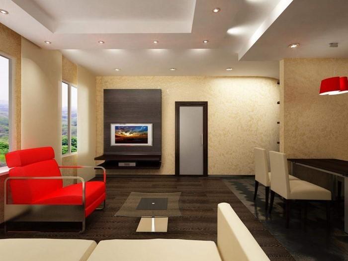 Wohnzimmer-Farben-auffälliges- interieur