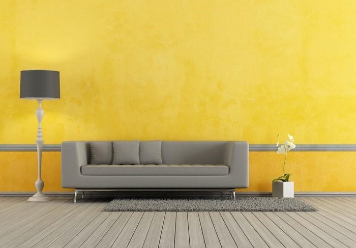 Wohnzimmer-Ideen-mit-Gelb-Ein-außergewöhnliches-Design