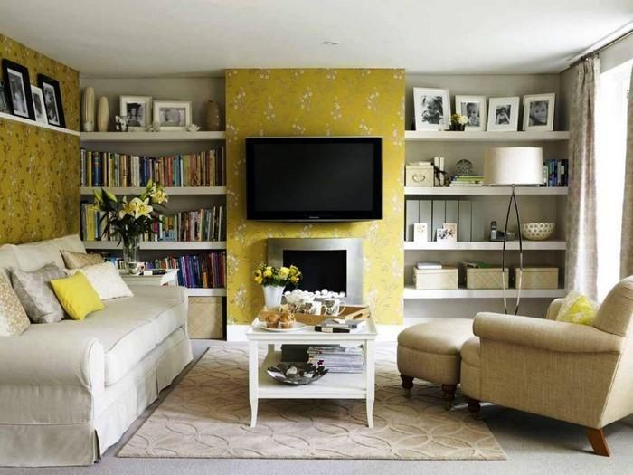 Wohnzimmer-Ideen-mit-Gelb-Ein-außergewöhnliches-Interieur