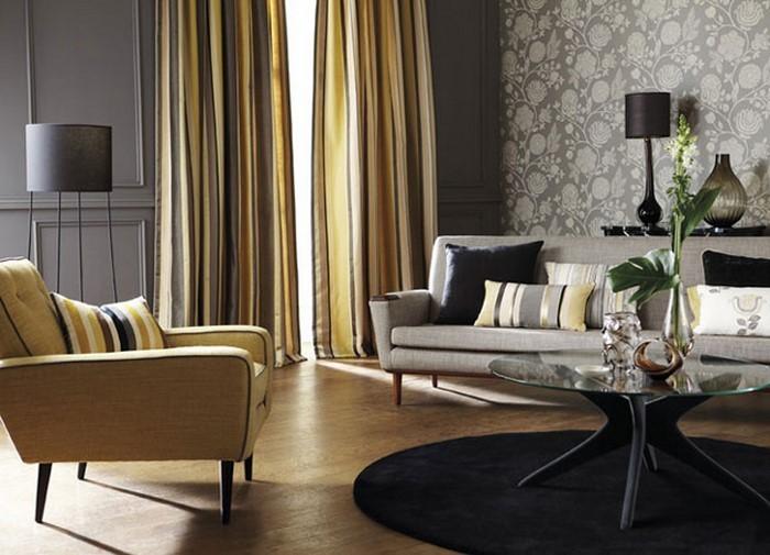 Wohnzimmer-Ideen-mit-Gelb-Ein-auffälliges-Interieur
