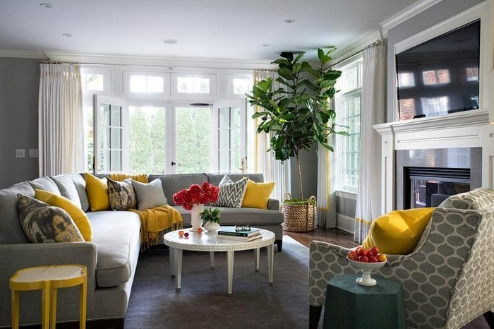 Wohnzimmer-Ideen-mit-Gelb-Ein-kreatives-Interieur