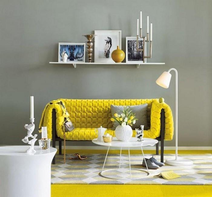Wohnzimmer-Ideen-mit-Gelb-Ein-modernes-Design