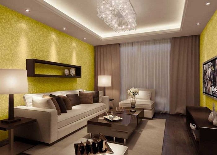 Wohnzimmer Ideen Mit Gelb Ein Tolles Design