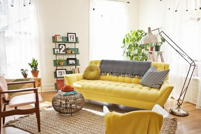 Wohnzimmer-Ideen-mit-Gelb-Ein-verblüffendes-Interieur