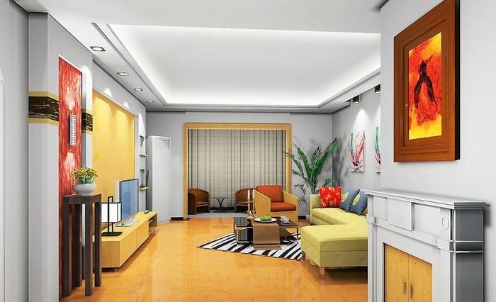 Wohnzimmer-Ideen-mit-Gelb-Ein-wunderschönes-Interieur